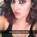 purple/pink alien princess makeup