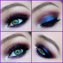 Smokey Look With Blue &Purple