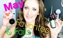 May Favorites & Fails (Japonesque, China Glaze, Agave, Maybelline)