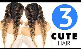 ★ 3 Summer HAIRSTYLES You'll Want! | Girls CUTE BRAIDS Hairstyle
