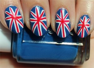 See more swatches & my tutorial here: http://www.swatchandlearn.com/nail-art-tutorial-british-union-jack-nails/