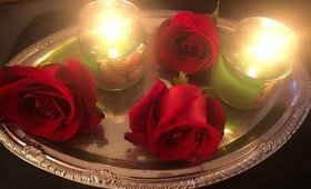 surprising my hubby with a rose petals bath