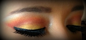 Makeup detail for the photoshoot.