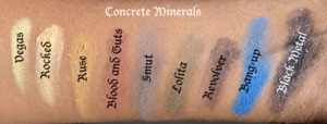 Concrete Minerals swatch on medium tan / olive skin.  Products available at http://www.OrlandoAirbrushMakeup.com, serving the Orlando and Miami markets.