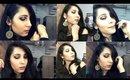 GOLD & BLACK HALO SMOKEY EYES | HUDA BEAUTY ROSE GOLD PALETTE| Sapna Ganglani