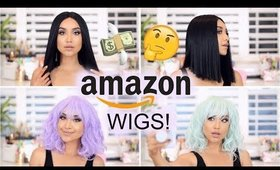 Trying on Amazon WIGS! Are they Worth it?!