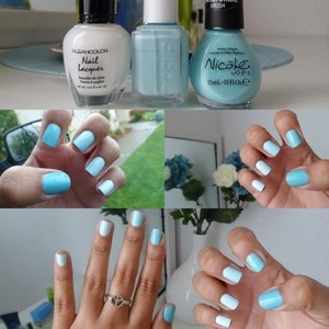 Check out a full blog post here! http://andreamrllo.com/post/21852501674/minty-ombre