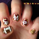 SF 49ers Super Bowl Nail Art