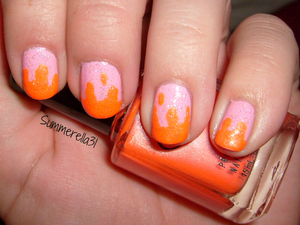 OPI Pink Friday, Color Club Tangerine Scream and Wet N Wild Hallucinate