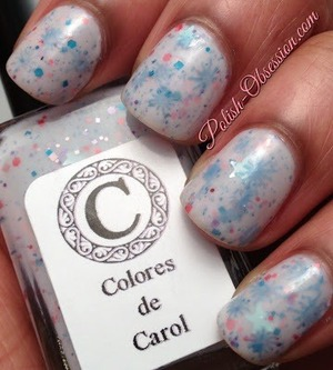 Stamped China Glaze Electric Beat over Colores de Carol Inner Princess http://www.polish-obsession.com/2013/05/show-some-love-saturday_18.html