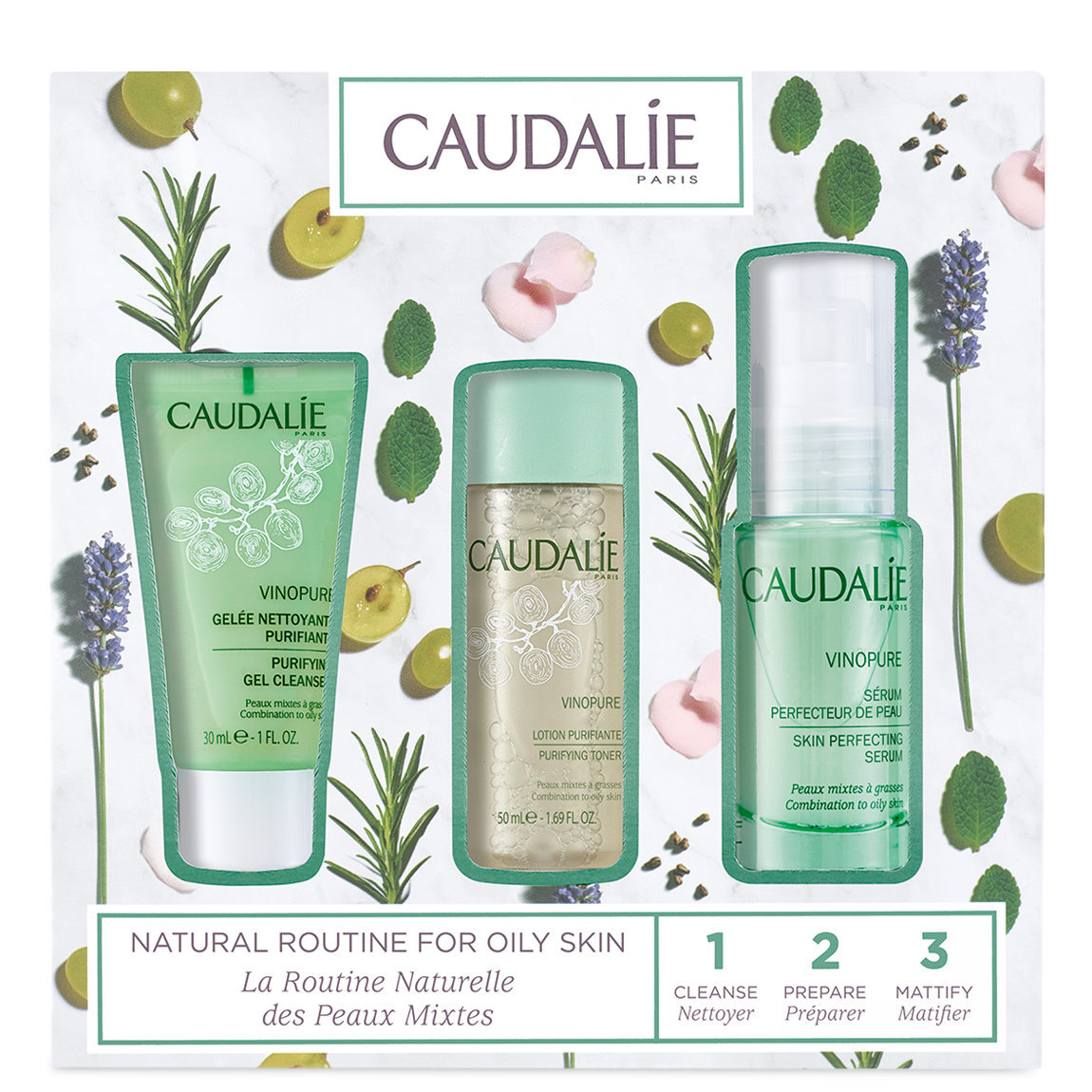 Caudalie Vinopure Natural Routine for Oily Skin Set alternative view 1 - product swatch.