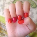 Pink and Orange Spring Nails