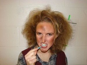 I was on the hair/makeup/costume team for the production of Urinetown at Syracuse University.