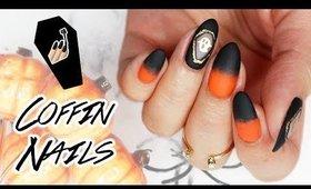 Coffin Nail Art | Halloween 2018 🎃