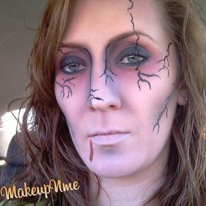 Zombie look for Halloween