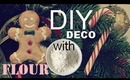 ❄ Cheap DIY Candy Canes & Gingerbread Christmas Decorations! ❄ with homemade clay / salt dough
