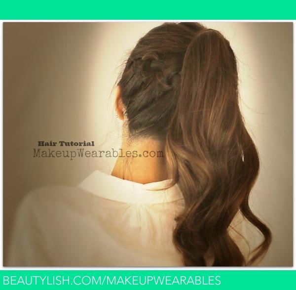 Hair Tutorial Braided Messy Bun Ponytail Back To School