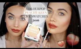 NEW Colourpop Peachy Keen Collection LIVE SWATCHES