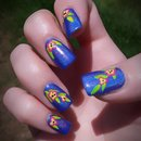 Tropical Floral Holo Nails