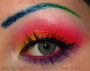 Crazy Glitter Brows