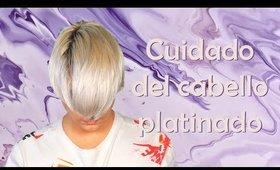Cómo cuidar del cabello platino.