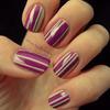 Simple striping mani