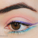 Colorful Take on Winged Liner