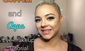Aqua and Copper Eye Tutorial | Beauty by Pinky