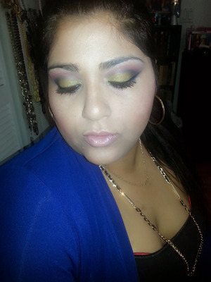 bh cosmetics party girl pallet and Macs Blankety