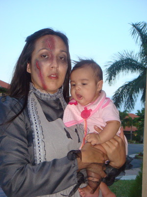 Halloween 2010 with new baby