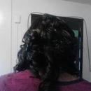 Quick weave w/ curls