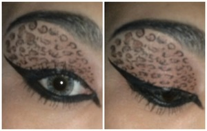 I was inspired  by the leopards spot to create this look