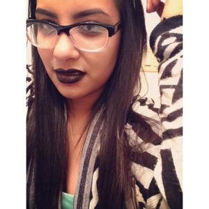 black lipstick don't hurt nobody.