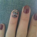 Fall Aztec Accent Nail