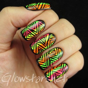 Read the blog post at http://glowstars.net/lacquer-obsession/2014/10/triangle-patterns-and-neon-stripes/