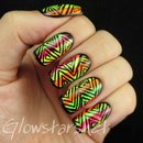 Triangle patterns and neon stripes