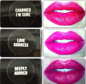 3 lipsticks from  the MAC Marilyn Monroe collection