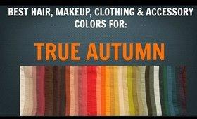 Autumn Color Palette: Best Hair, Makeup, Outfit Colors - Warm Skin Undertone - Color Analysis