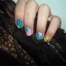 Splatter Colorful Nails!