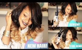 Red Pro Easy Curl Curling Wand Demo on New Divas Wigs Unit!