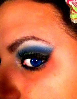 look using Beauty From the Earth pigments and red cherry lashes