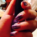Pretty Purple Gradient Nail