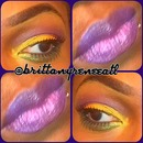 Mardi gras inspired look