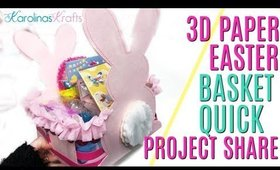 3D paper easter basket quick project share, 10 Days of Easter Happy Mail DAY 1