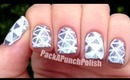 Triangles and Glitter Nail Art Tutorial
