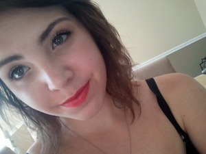 BRIIIIIIIIGHT lips! Revlon ColorBurst Lipstick in Coral - my new fave!