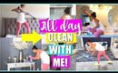 ALL DAY CLEAN WITH ME! | Extreme Clean With Me, Organizing, Cooking, Cleaning Motivation,