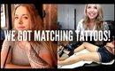 WE GOT MATCHING TATTOOS IN GERMANY! | Random Vlog