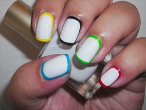 Collection 2000 - French White Sally Hansen - Blue me away Sinful Colors - Happy Ending Sinful Colors - Ruby Ruby Zoya - Pippa