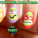 Teenage Mutant Ninja Turtles Nail Art (Flat & Easy!)